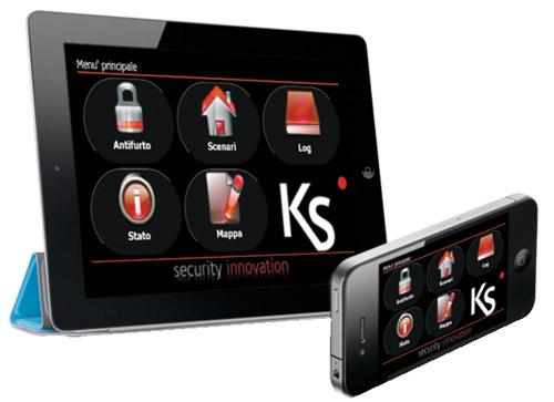 Ksenia Lares Ipad Iphone web interface